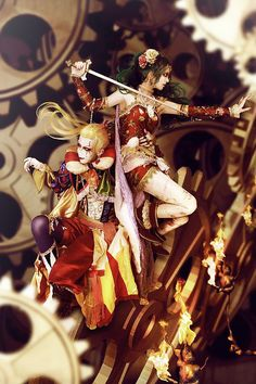 final fantasy Kefka and Terra Branford cosplay. Final Fantasy Vi, Final Fantasy Cosplay, Terra Branford, Square Photos, Best Cosplay, Neverland, Manga Art, Anime Couples, Cosplay Costumes