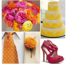 orange wedding shoes | ... Palette Inspiration: Brights [Fuchsia, Orange, Yellow] - Modernly Wed