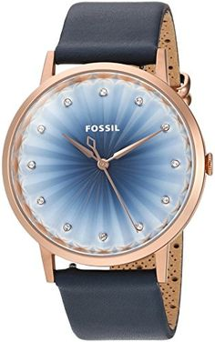 Fossil Womens ES4198 Vintage Muse ThreeHand Navy Leather Watch >>> More info could be found at the image url. Note: It's an affiliate link to Amazon