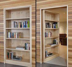 Ordinaire Потайная дверь   вариант, дверь, стена, петли, проем, отделка, картина. Hidden  Door BookcaseHow To Build ...