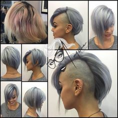 All sizes | #beforeandafter on my girl @arlene.espi #hottie new #color and #cut #shavedsides #mohawk #assymetricbob combination #versatil | Flickr - Photo Sharing!
