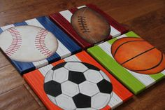 You will receive 4 12 x 12 Custom Wall Art Sports by slharnisch, $140.00