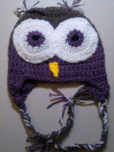 Crochet Owl Beanie  Video 2