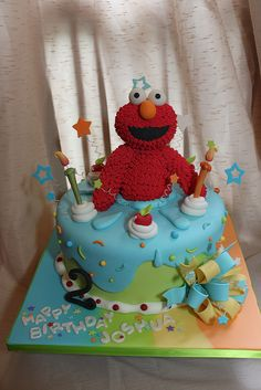 Elmo Cake                                                                                                            Elmo cake             by        Andreas SweetCakes      on        Flickr
