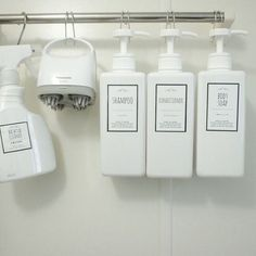Bathroom showers 7177680640867193 - Hang shampoo bottles from towel rack/tension rod in shower so you don't have soap scum bathroom organization Source by janelleggg Organisation Hacks, Purse Organization, Organizing Ideas, Bathroom Shower Organization, Kitchen Organization, Organized Bathroom, Medicine Organization, Bathroom Ideas, Shower Soap