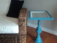 Richmond Thrifter: Lamp Base Turned Pedestal Table!... so cute!