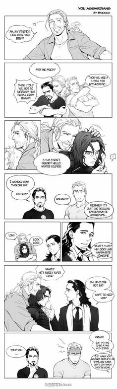 """""""Thor ships Stucky, LOL, and sure, he has good looking for guys, Bucky it's super cute"""" Just had a weird thought. This post suddenly made me want to ship Bucky and Loki. Avengers Humor, Funny Marvel Memes, Dc Memes, Marvel Jokes, Marvel Dc Comics, Marvel Avengers, Bucky, Loki Laufeyson, Loki Thor"""