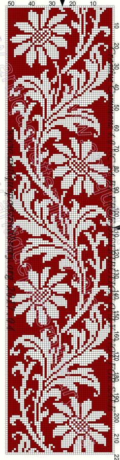 @nika Easy Cross Stitch Patterns, Cross Stitch Needles, Simple Cross Stitch, Cross Stitch Borders, Cross Stitch Flowers, Cross Stitch Designs, Cross Stitching, Loom Bracelet Patterns, Beading Patterns