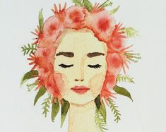 Print of original watercolor painting of by KristineBrookshire
