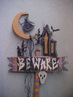Rustic Wood Craft Halloween Scary Haunted House