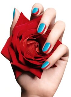 French Love Manicure - Lancôme - Vernis In Love - spring/summer 2012 Fancy Nails, Love Nails, How To Do Nails, Pretty Nails, 3d Nail Art, 3d Nails, Nail Arts, Teal Nails, Nail Art Designs