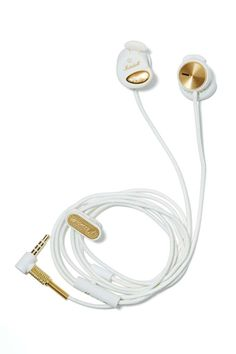 Marshall Minor Earbuds - White - Gifts + Home Computer Headphones, Girl With Headphones, Ear Headphones, Accessories Shop, Fashion Accessories, Iphone Gadgets, Apple Laptop, Womens Fashion Online, Nasty Gal