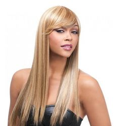 It's a Wig Q-Kimberly Wig Synthetic  -Shop for hair extensions at www.halifaxhair.com #halifax