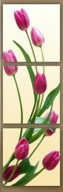 3 PIECE PURPLE TULIP FLOWER WALL ART | FREE SHIPPING & FRAMED – YOUR ART & DECOR