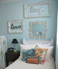 I like the framed words as a bedroom decor idea! The frame really adds something