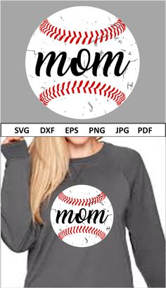 Baseball Shirts For Moms, Sports Shirts, Softball Tshirts, Baseball Gifts, Mug Designs, Shirt Designs, Cool Diy Projects, Silhouette Cameo, Silhouette Projects