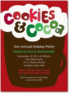 Cute invite for Cookie Exchange Party