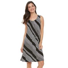Women's Croft & Barrow® Pintuck Fit & Flare Dress, Size: