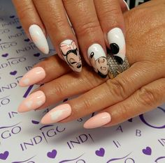 Veni Vidi Peachy, White,Ivory, Vanilla Nude Gel Brush, Mokka Arte Brilante Gel, Paint Gel by Paula z Madeleine Studio #nails #nail #indigo #heart #micky #mouse #mini #white #pastel #love #spring #peach