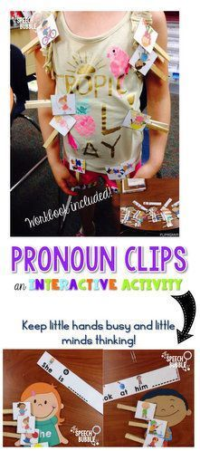 This pronoun activity will keep little hands busy and little minds thinking. Differentiated levels of support are included, plus when kids are done they can make their own pronoun book!