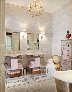 """Monsieur & Madame tile """"rugs"""" .  In love!"""