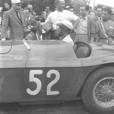 1953 Targa Florio : Eugenio Castellotti, Ferrari 225S #52 (#0104E, 2700 cc/V12), Scuderia Castellotti, Retired (Broken axle, lap 4). (ph: forums-auto.com)