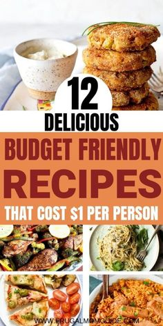 If you want to try saving money and you're looking for frugal meals, these are some of the very best easy, healthy, delicious and budget friendly recipes to get started! Cheap Meals For Two, Cheap Easy Meals, Easy Meals For Kids, Inexpensive Meals, Frugal Meals, Budget Meals, Quick Easy Meals, Kid Meals, Freezer Meals