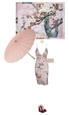 """Asian Art; China"" by artamisia ❤ liked on Polyvore featuring Forever 21, Cultural Intrigue, Valentino, InspiredBy, art, china, cherryblossom and parasol"