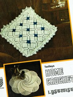 Items similar to PDF Vintage Crochet Pattern Pin Wheel Doily Twilleys 6102 Edging Lacy Spiral Lystwist Lyscordet Home Decor Heirloom Cushion on Etsy Crochet Doily Patterns, Crochet Motif, Crochet Doilies, Knit Crochet, Vintage Knitting, Vintage Crochet, Afghan Blanket, Retro Home Decor, Pinwheels