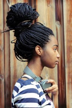THIS IS ACTUALLY HOW IM WEARING MY BOX BRAIDS AT THIS VERY MOMENT LOOKING AT PINTEREST....ABOUT TO SHOWER ^.^
