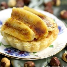 Bruleed Banana and Hazelnut Buttercream Pie. Happy Persian New year!