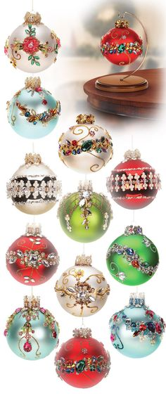 King's Ornaments, love the blue ones