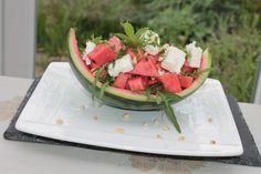 Melonen - Rucola - Salat mit Feta