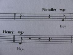 """Sheet music from """"Next to Normal."""" Now playing at Drury Lane Theatre through October 6! www.drurylane.com."""