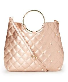 $19.99 marked down from $48! Shell Pink Mettallic-Accent Convertible Satchel #rosegold #pink #satchel #purse #zulily! #zulilyfinds