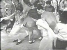 Wow! 1957! Danny and the Juniors-At the Hop.And kids really knew how to dance back then too.