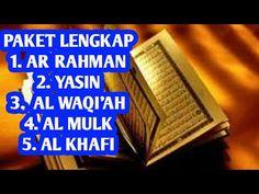 Surah Ar Rahman Surah Yasin Surah Al Waqi Ah Surah Al Mulk Surah Al Kahfi Youtube Lagu Video Musik Ayat