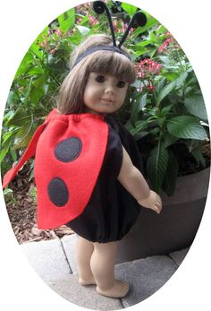 American Girl DOLL CLOTHES 18 in LADYBUG Halloween costume is great for dress up fun. $13.00, via Etsy.