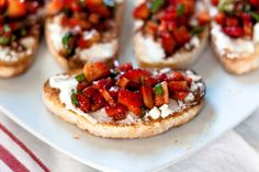 Goat Cheese Crostini with Strawberry Bruschetta | Made something like this the other day and we couldn't stop eating it... just dipping strawberries in the balsamic vinaigrette