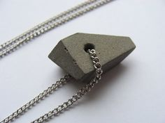 Concrete necklace / Cement pendant / Geometric minimalistic