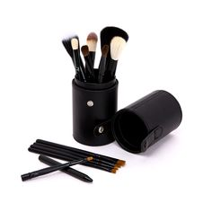 Luxury Black Make-up Brush with Case (12pc-set), 57.1% discount @ PatPat Mom Baby Shopping App