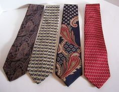 Collection of 4 Quality MEN'S NECK TIES