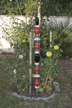 Keramik Design, Garden Totems, Garden Ornaments, Wind Chimes, Wine Rack, Outdoor Decor, Home Decor, Modern Art, Clay
