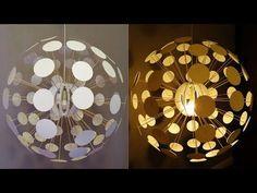 Pendant Lamp DIY (Pilea) - Designer Lighting Challenge - EzyCraft - YouTube