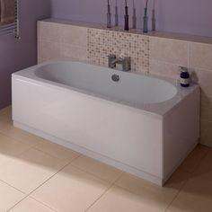 Gloss White Wooden Bath Side Panel 1800