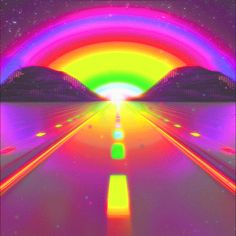 Find images and videos about gif, vintage and grunge on We Heart It - the app to get lost in what you love. Rainbow Aesthetic, Neon Aesthetic, Aesthetic Images, Aesthetic Wallpapers, Trippy Gif, Trippy Wallpaper, Trippy Videos, Rainbow Gif, Beste Gif