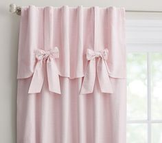 Evelyn Linen Blend Bow Valance Blackout Panel