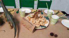 Cumpleaños de dinosaurio: huellas de dinosaurio (galletas de harina de avena)