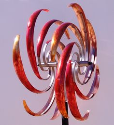 In Purple, At Artworks Right Now!  Mark White's kinetic sculptures