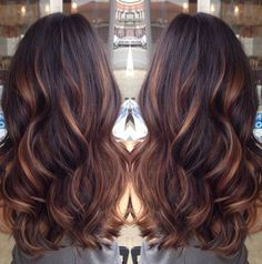 dark brown hair with golden highlights - Google Search